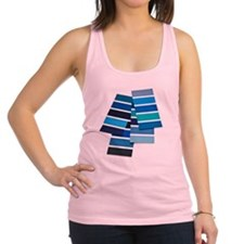 Blue color swatch Racerback Tank Top