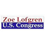 Zoe Lofgren for Congress (bumper sticker)