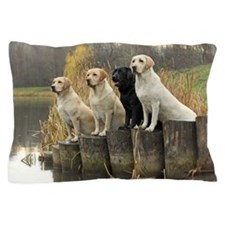 Labrador Retrievers in field trials. Pillow Case