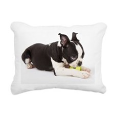 Boston Terrier Puppy wit Rectangular Canvas Pillow