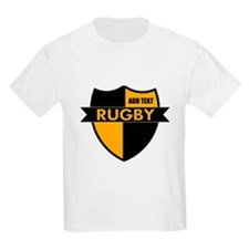 Rugby Shield Black Gold T-Shirt