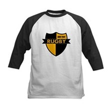 Rugby Shield Black Gold Tee