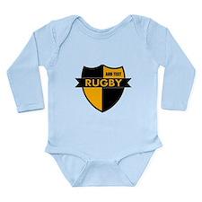 Rugby Shield Black Gold Long Sleeve Infant Bodysui