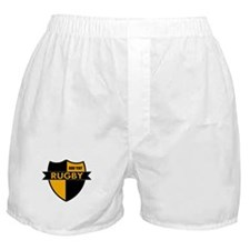 Rugby Shield Black Gold Boxer Shorts