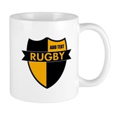 Rugby Shield Black Gold Mug
