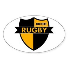 Rugby Shield Black Gold Decal