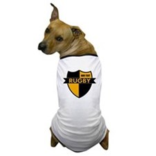 Rugby Shield Black Gold Dog T-Shirt