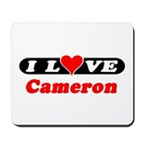 I Love Cameron Mousepad