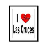 I Love Las Cruces Framed Panel Print