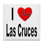 I Love Las Cruces Tile Coaster
