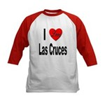 I Love Las Cruces (Front) Kids Baseball Jersey