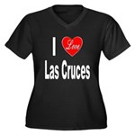 I Love Las Cruces (Front) Women's Plus Size V-Neck