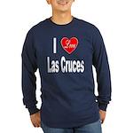 I Love Las Cruces (Front) Long Sleeve Dark T-Shirt