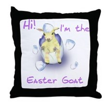 Easter Goat Baby Throw Pillow