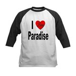 I Love Paradise Kids Baseball Jersey