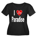 I Love Paradise (Front) Women's Plus Size Scoop Ne