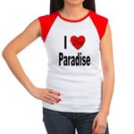 I Love Paradise Women's Cap Sleeve T-Shirt