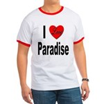 I Love Paradise Ringer T