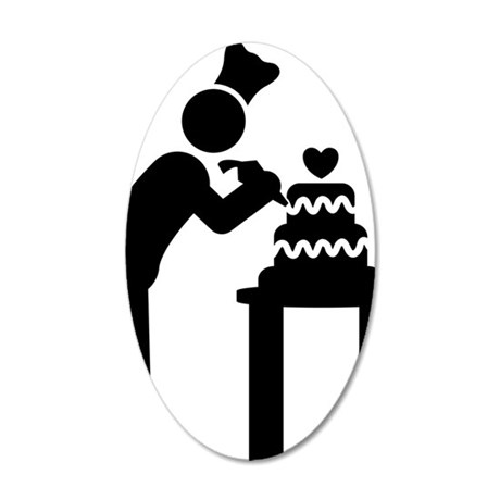 Cake-Decorating-AAA1 35x21 Oval Wall Decal
