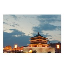 Night view of Bell Tower  Postcards (Package of 8)
