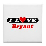 I Love Bryant Tile Coaster