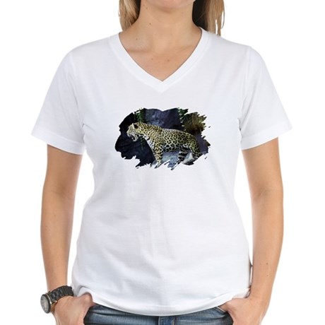 Jaguar Women's V-Neck T-Shirt