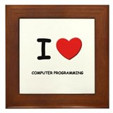 I love computer programming  Framed Tile