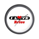 I Love Brice Wall Clock