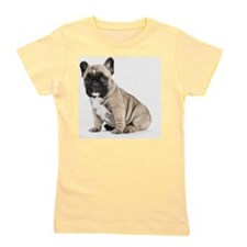 Pedigree French Bulldog Puppy looking t Girl's Tee