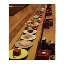 Conveyor belt sushi Throw Blanket