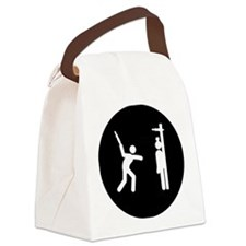 Knife-Throwing-AAB1 Canvas Lunch Bag