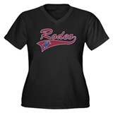 Rodeo Women's Plus Size V-Neck Dark T-Shirt