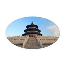Temple of Heaven in Beijing. Oval Car Magnet