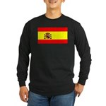 Spain Spanish Blank Flag Long Sleeve Dark T-Shirt