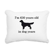 90 birthday dog years golden retriever Rectangular
