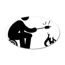 Marshmallow-Burning-AAA1 35x21 Oval Wall Decal