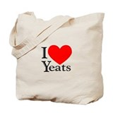 I Love Yeats Tote Bag