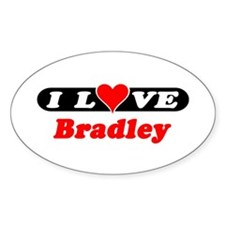 I Love Bradley Oval Decal