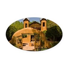Sanctuary of Chimayo Oval Car Magnet