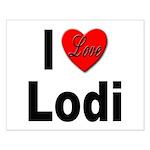 I Love Lodi Small Poster
