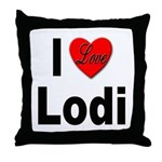 I Love Lodi Throw Pillow