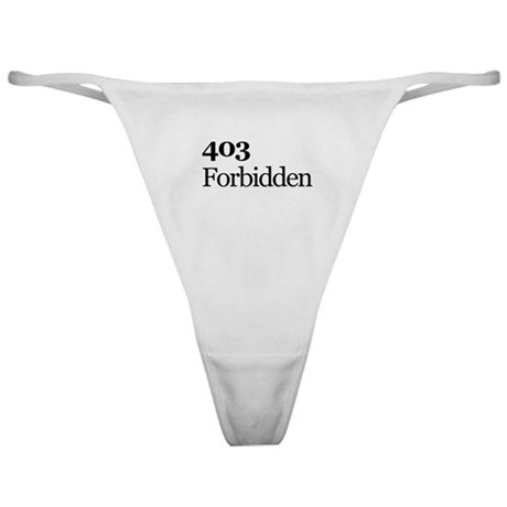 403 Forbidden Underwear