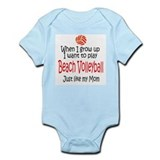 WIGU Beach Volleyball Mom Infant Bodysuit
