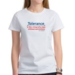 Tolerance quote Women's T-Shirt