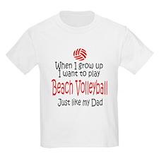 WIGU Beach Volleyball Dad T-Shirt