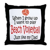 WIGU Beach Volleyball Dad Throw Pillow