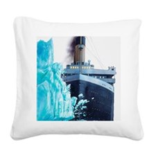 Illustration of Titanic hitti Square Canvas Pillow