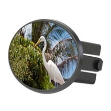 Great white egret Hitch Cover