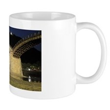 Night View of Kintai Bridge and Nishiki Mug