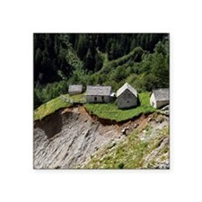 """Mountain landslide and eros Square Sticker 3"""" x 3"""""""